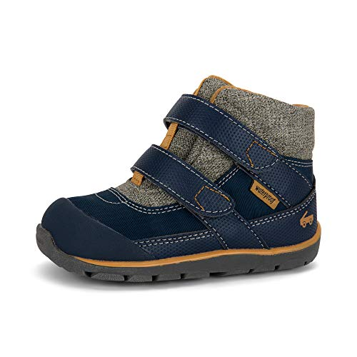 See Kai Run - Atlas II Waterproof Boots for Kids, Navy/Khaki, 7