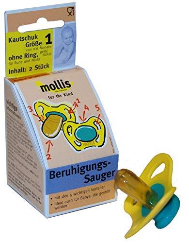 Mollis Schnuller Gr. 1 ohne Ring Kautschuk 2 St.