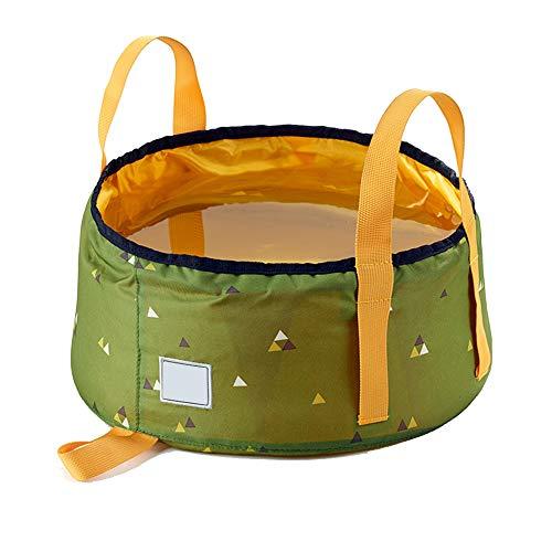 Außenwaschbecken Klappkübel Tragbares Fischenfass Kompakt und langlebig, ohne zu nähen Einfach zu lagern Tragbares Nicht durchlässiges Wasser Geeignet für Camping, Wandern