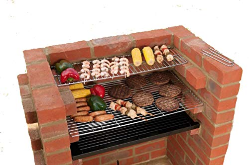 Original DIY Brick Grill Kit BKB 101 - Built In BBQ Grill for Charcoal. All Hardware including...