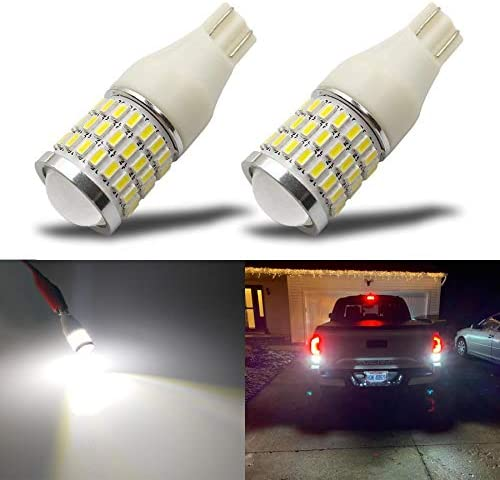 iBrightstar Newest 9-30V Super Bright Error Free T15 912 W16W 921 LED Bulbs with Projector replacement for Back Up Reverse Lights, Truck Cargo Lights, 3rd Brake Lights, Xenon White