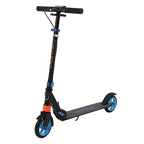 Scooter urbano, patinetes de acrobacias con mango de altura ajustable, mecanismo abierto de 1 patada, patinetes, carro para caminar, marco de aluminio, tablero de pie ancho, capacidad de peso 220 li