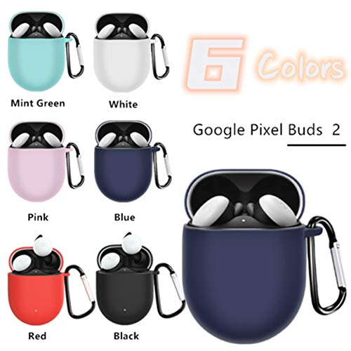 Anti-Shock Silicone Case Box Protective Cover for Google Pixel Buds 2 Earbuds, Hard Shell Earphone Case, Headphone Case for Wired Headphones (Pink)