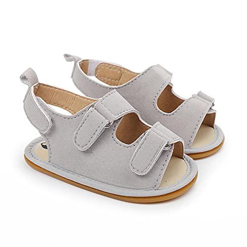 WXDC Verano recién Nacido bebé niños niñas PU-Zapatos de Cuero, Zapatillas de Deporte Huecas de Suela Suave, Sandalias, Zapatos para bebés de 0 a 18 Meses