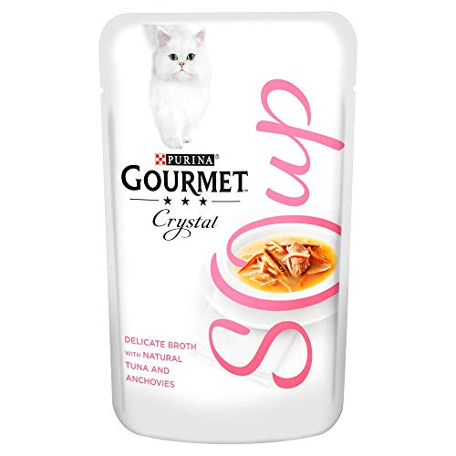 Gourmet Wet Cat Adult Soup Wet Food Pouch Tuna/Anchovies/Whitefish, 40 g - Pack of 32