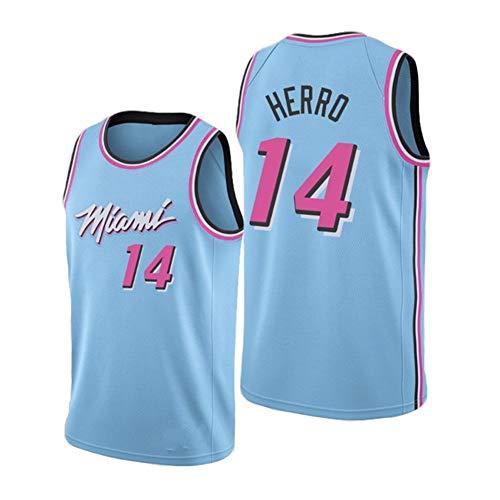 G&F Miami Heat # 14 Tyler Herro - Fans Basket Jersey Maglia Canotta, Maglia Swingman Ricamata Senza Maniche Unisex(S-XXL) (Size : M)