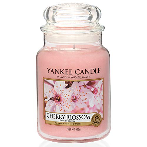 Yankee Candle Scented Candle | Cherry Blossom Large Jar Candle | Burn Time: Up to 150 Hours