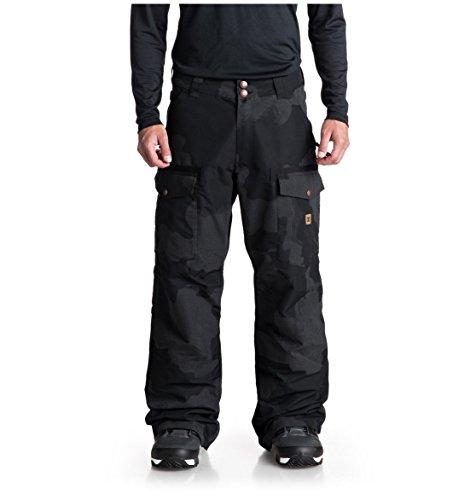 DC Men's Code SE Snow Pant, Black DCU Reflective camo Melon, XL