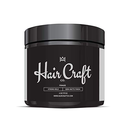 Hair Craft Co. Pomade 4oz - Best Semi-Matte Finish Shine - Original Hold Medium Strength (Gel) –...