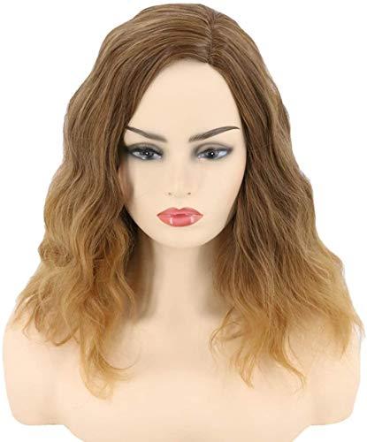 Peluca de mujer marrn Once, peluca sinttica larga, rizada, para disfraz de Halloween, fiesta