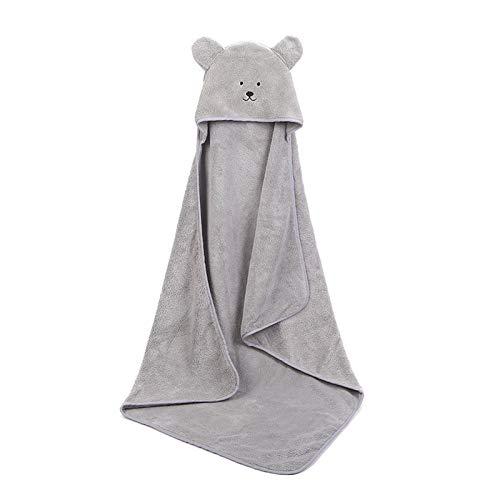 Srfghjs Gorros de Ducha Bebé Poncho Towel Toalla Bebe Toalla Toalla Velvet 90 * 90 cm Hood Fleece Toallas Infantil Manta Recién Nacido Bebé con Capucha Toalla Infantil Bebés Bebés SPA (Color : Gray)