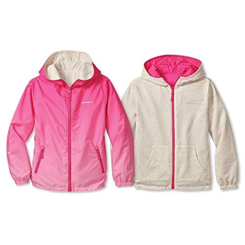 Eddie Bauer Kids Reversible Jacket - Hooded Windbreaker   Pink, Small