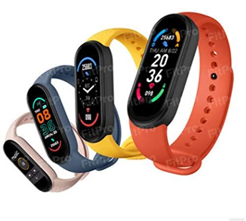 QOHG Nuevo M6 Pulsera Inteligente magnética podómetro Deportivo Bluetooth Pulsera electrónica frecuencia cardíaca presión Arterial monitoreo de oxígeno en Sangre