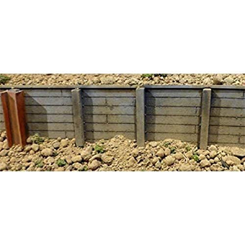 Flexible Timber Retaining Wall -- Large for HO, S & O Scales 3-3/4 x 12