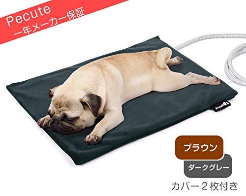 ペキュート[Pecute] ペット用 ホットカーペット 厚手 猫 犬用 ヒーターマット ペットカーペット Mサイズ 40...