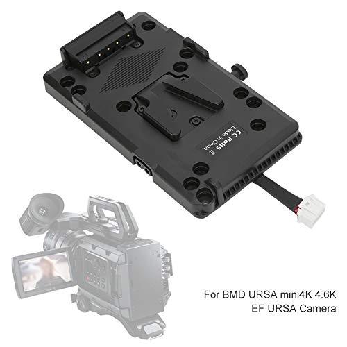 Topiky Kamera Batterie Montageplatte, V-Mount V-Lock Batterie Montageplatte D-TAP Stromversorgungssystem für Sony für BMD URSA Mini 4K 4,6K EF URSA Kamera Camcorder