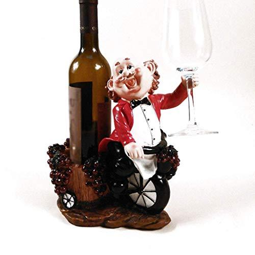 LLRYN El rincón del Ingenioso, Titular de la Botella de Vino de la Novedad, Funcional Cocina Estatua, Decoración, Regalo Ideal for el Entusiasta del Vino
