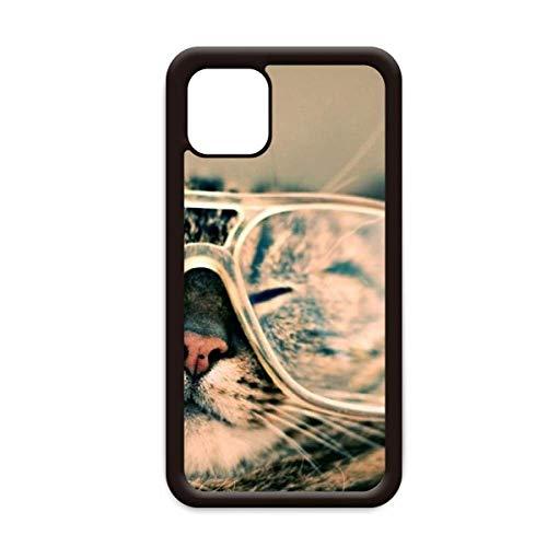 Animal Glasses Cat Fotografía Shoot para iPhone 12 Pro Max cubierta para Apple Mini Mobile Case Shell
