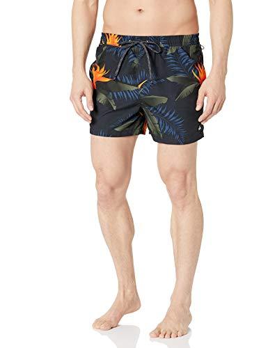 Quiksilver Men's POOLSIDER Volley 15 Boardshort Swim Trunk, Black, S