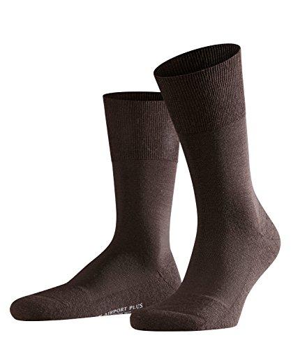 FALKE Herren Socken Airport Plus - Merinowoll-/Baumwollmischung, 1 Paar, Braun (Brown 5930), Größe: 43-44