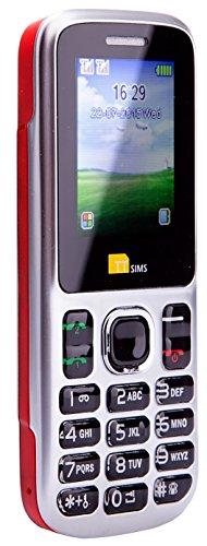TTsims – Cellulare Dual Sim TT130 - Fotocamera - Bluetooth - Funzione Torcia - Radio - MP3 MP4 – Slot per Memory Card – Il più Economico Cellulare Dual Sim - Rosso