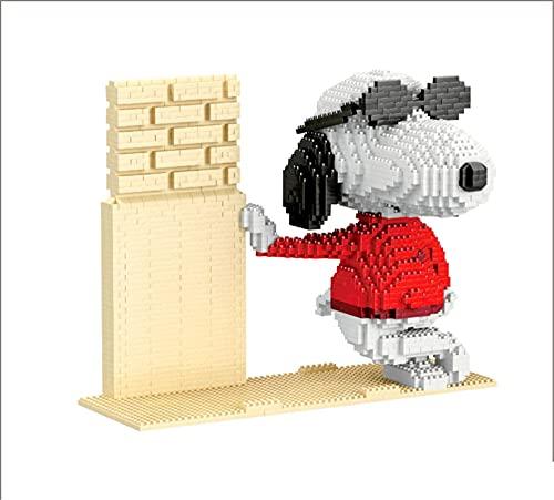 NXNX Micro-Blöcke Hund 3D-Puzzles DIY Pädagogisches Spielzeug Geschenk Für Erwachsene Kinder, (Cooles Snoopy)