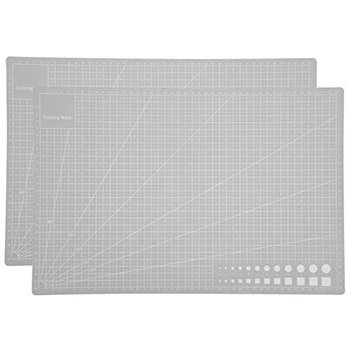 Alfombrilla de autocuración de astilla A3, cortador de tela de 2 piezas, tablero antideslizante de autocuración para evitar que la hoja raye el escritorio