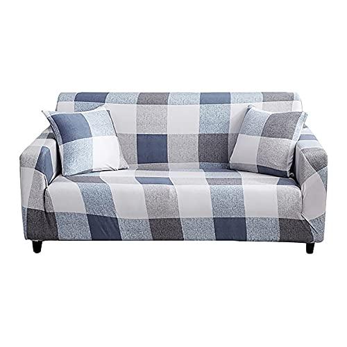 Funda elástica para sofá de Esquina para Sala de Estar, sillón de 2 y 3 Lugares, sofá Gris, sofá seccional A9, 4 plazas