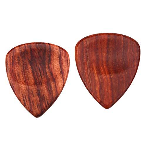 HomeDecTime 2pcs Rosewood Guitar Bass Pick Plectrum Hearted Shape Pick Instrumentos Piezas