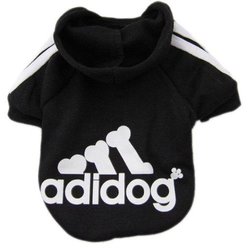 Zehui süsse Haustier Hund Katze Pullover Hündchen T-Shirt Warme Pullover Mantel Kleidung Apparel Schwarz S