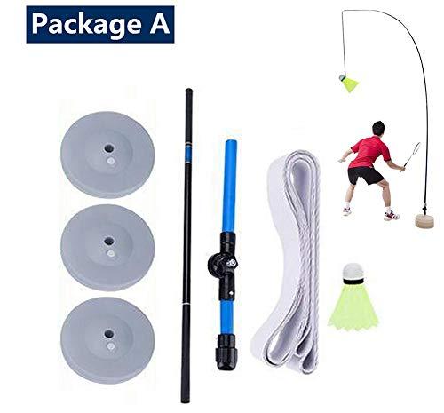 sunflowerany Badminton-Trainer Mit Elastischem Seil - Perfektes Solo-Badminton-Trainer-Set - Höhenverstellbar