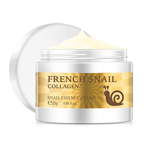 MXECO Snail Crema de ácido hialurónico Crema blanqueadora para el Rostro Tratamiento Antiarrugas y antienvejecimiento Tratamiento para el acné Crema reparadora reafirmante hidratante (Blanco)