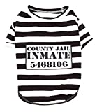 Parisian Pet - Furry Inmate - Prisoner Costume for Dogs | Funny Halloween Outfit for Pets | Size - L