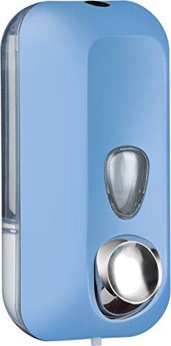 Distributeur Dispensateur dispenser de savon liquide coloré soft touch fixation murale (AZUR)
