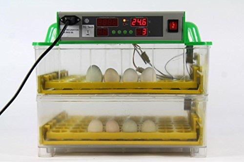Inkubator BK96ProActive mit Zubehör VOLLAUTOMATISCH transparent 96 oder 48 Hühnereier Brutautomat Brutkasten Brutmaschine dt. Anleitung