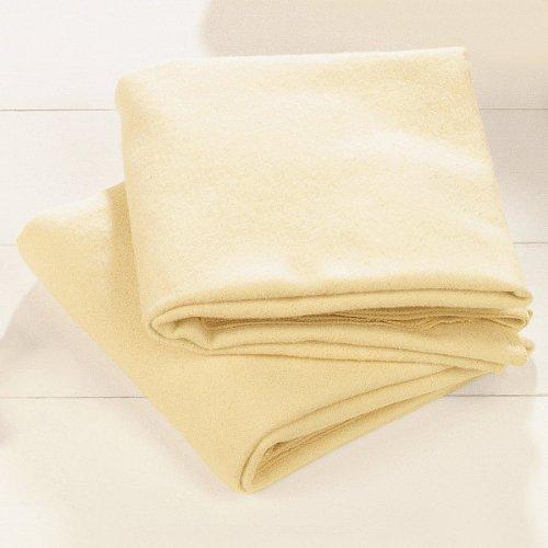 Bornino Carrés molletonnés couche en tissu, naturel