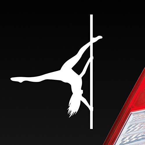 Auto Aufkleber in deiner Wunschfarbe Sexy Girl Tanzen Poledance Strip GoGo Pin Up Dub OEM 12x9 cm Autoaufkleber Sticker