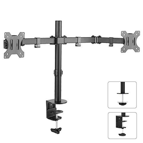Maclean MC-754 2-voudige tafelsteun dual monitorarm 360 ° 13-32