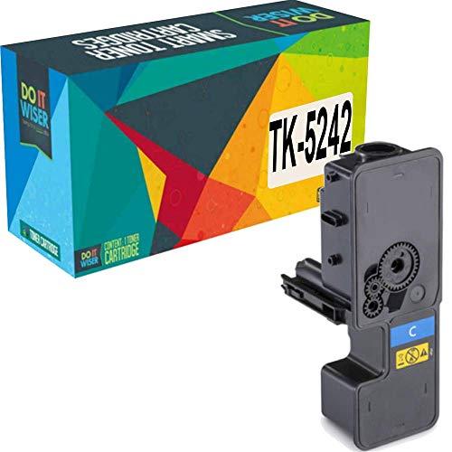 Do it wiser - Cartucho de tóner de Repuesto para TK-5242 Kyocera Ecosys M5526cdw P5026cdw P5026cdn M5526cdn | TK-5242C 1T02R7CUS0 (Cyan)