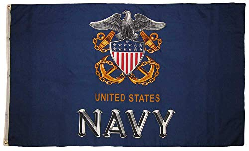 Trade Winds 3x5 United States Navy New USN Anchor Eagle Crest 150D Premium Quality Fade Resistant Polyester Flag 3