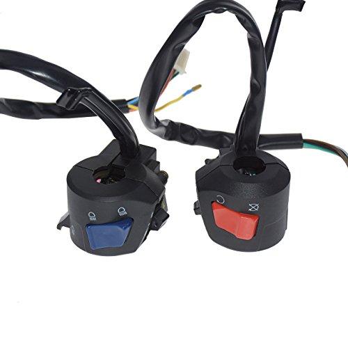 7/8pulgadas manillar Cuerno Alto Bajo Beam intermitente eléctrico Start Interruptor de los...