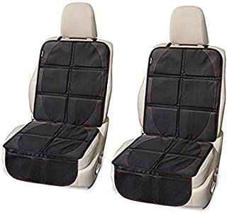 Car Seat Protector by MySmarterStyle: Upgraded Thick Black Waterproof Covers for Baby Seats to Protect backseats Upholstery: 2 Pack Non Slip Waterproof Covers with organizing Pockets