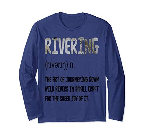 Kanu, Kajak, Kanadier und Paddeln, Rivering T-Shirt. Langarmshirt