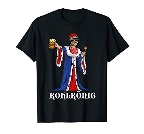 Herren Kohlkönig Grünkohl Kohltour Bollerwagen Kohlfahrt Lustiges T-Shirt
