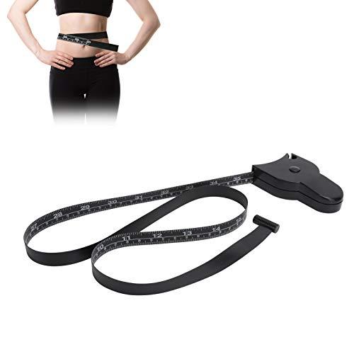 Cinta métrica corporal de 150 cm / 60 pulgadas, cinta métrica suave retráctil para la cabeza, caderas, piernas, herramienta de medición de cintura para hombres y mujeres, fitness y pérdida de peso