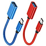 YAKAR USB C to USB 3.0 Adapter [2 Pack], OTG Cable Type C Male to USB A Female Adapter, Compatible: Mobile Phone/Notebook/Flash Drive/Keyboard/Mouse and Other Data Transmission