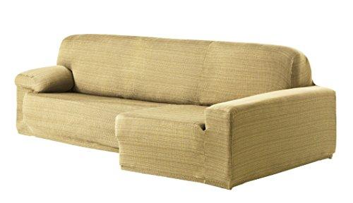 Eysa Aquiles Élastique Chaise Longue Droite, Vue frontale, Polyester Coton, Beige, 43x37x14 cm