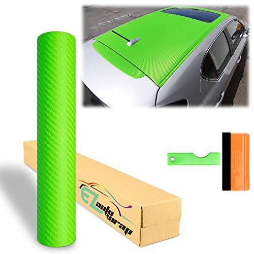 12'x60' (1FTX5FT) Green 3D Carbon Fiber Textured Matte Car Auto Motorcycle Vinyl Wrap Sticker DIY...