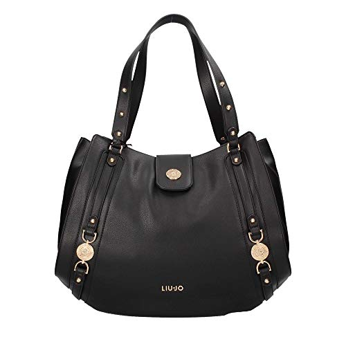 BORSA SHOPPING LIU-JO IT'S ME 3 COMPARTI ECOPELLE COLORE NERO DONNA BS19LJ03