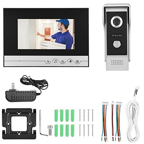 Intercomunicador Videoportero Videoportero Teléfono Color TFT Pantalla LCD Video Timbre 90 ° Amplio ángulo de visión para la Seguridad del hogar(US Standard 100-240V)